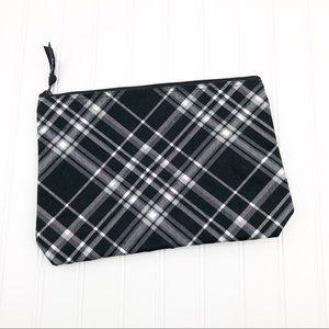 Thirty One Zipper Bag Pouch Plaid Clutch